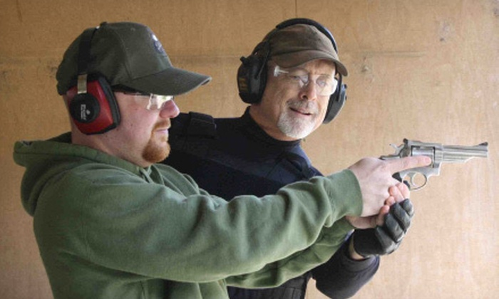 Firearms Instructor - Salem: Two-Hour Live-Fire Fundamentals Class with a Shooting-Range Session for Two or Four at Firearms Instructor (81% Off)
