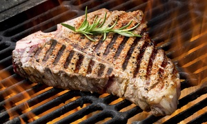 Deli Fuego: T-Bone or Sirloin Hickory Smoked Steak Dinner for Two or Four at Deli Fuego (33% Off)
