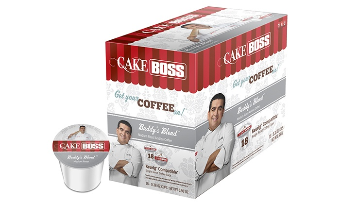 "Coffee Marvel: Pack of 72 ""Cake Boss"" Single-Serve Coffee Cups from Coffee Marvel (43% Off). Three Options Available."