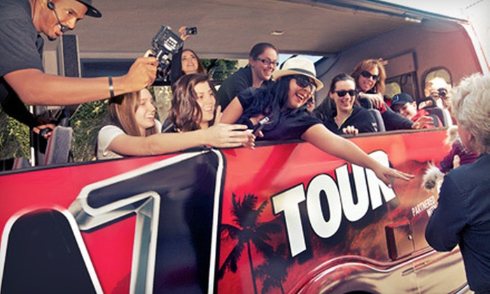 TMZ Hollywood Tour – Starline Tours - TMZ Celebrity Tour Hollywood partnered with Starline Tours: $24 for a Two-Hour TMZ Hollywood Tour for One Adult or Child (Up to $49 Value)