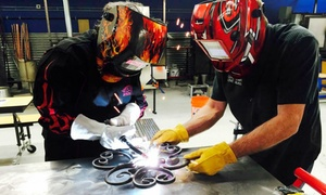 Live Laugh Love Glass- Welding: $79 for Introductory Welding Workshop to Make Garden Art ($125 value)