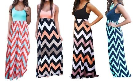 Summer Patterned Boho Maxi Dress