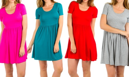 Women's Empire Waist Summer Shirt Dress (3-Pack)