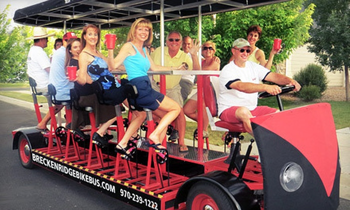 Breckenridge Bikebus - Breckenridge: Pedal-Powered Party-Bus Excursion for Up to 16 from Breckenridge Bikebus (Up to 59% Off). Five Options Available.