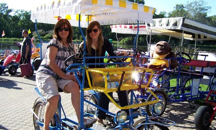 High Roller Fun Rentals - High Roller Fun Rentals: Paddleboat, Pedal-Cart, Kayak, and Bike Rentals from High Roller Fun Rentals (Up to 60% Off). Two Options Available.