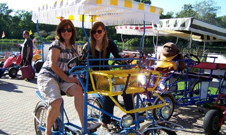 Paddleboat, Pedal-Cart, Kayak, and Bike Rentals from High Roller Fun Rentals (Up to 60% Off). Two Options Available.