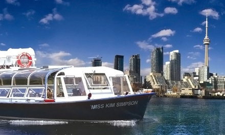 C$12 for a One-Hour Boat Tour of Toronto Harbour and Islands from Toronto Harbour Tours (C$28.19 Value)