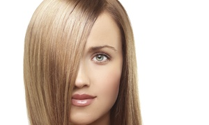 Glamour Addict: Haircut Package with Blowout and Condition, Color, or Highlights at Glamour Addict (Up to 64% Off)