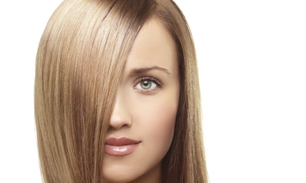 Haircut Package with Blowout and Condition, Color, or Highlights at Glamour Addict (Up to 64% Off)