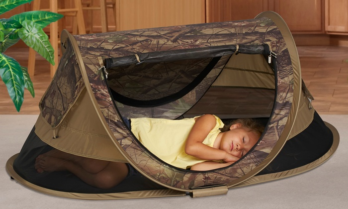 KidCo PeaPod Plus Childrenu0027s Travel Camo Bed  KidCo PeaPod Plus Childrenu0027s Travel ... & KidCo Childrenu0027s Travel Bed | Groupon Goods
