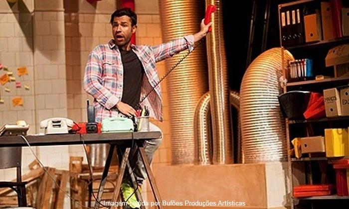 """BUFOES PRODUCOES ARTISTICAS LTDA - Rio de Janeiro: """"Lotação Esgotada"""", com Rodrigo Sant'anna – Teatro do Leblon: ingresso a partir de R$ 27,90"""