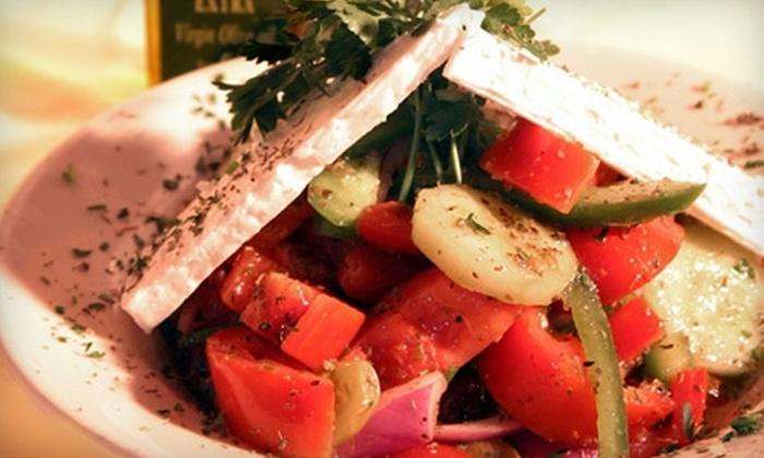 Taverna Plaka - Lindridge - Martin Manor: $20 for $40 Worth of Authentic Greek Cuisine and Drinks at Taverna Plaka