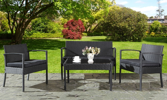 salon de jardin en r sine tress e california groupon shopping. Black Bedroom Furniture Sets. Home Design Ideas