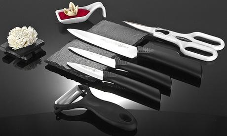 Set di coltelli in ceramica. Vari colori disponibili