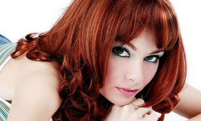 Haircut with Single-Process <strong>Color</strong> or Full <strong>Highlights</strong> at Hair Images (Up to 62% Off)