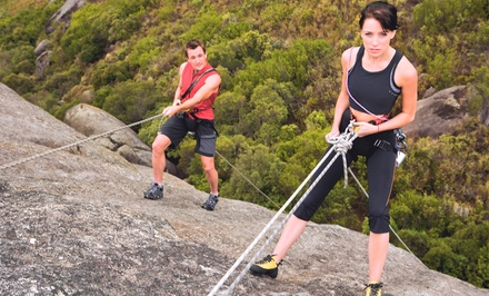 Half-Day Rappelling Trip for Two from Rare Earth Adventures (Up to 45% Off). Two Options Available.