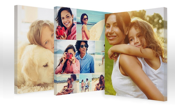 "Collage.com: 8""x10"", 12""x18"", 16""x20"", or 20""x24"" Custom Collage Canvas Print from Collage.com (Up to 76% Off)"