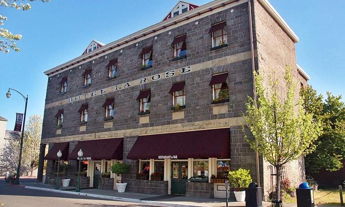 Hotel La Rose - Santa Rosa, CA: Stay at Hotel La Rose in Santa Rosa, CA. Dates Available into December.