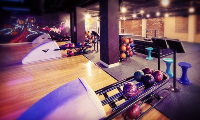 Sweat Fitness and Frames - East Falls: Two Games of Bowling for Up to 4, 6, or 10 with Shoe Rentals at Sweat Fitness and Frames (Up to 61% Off)