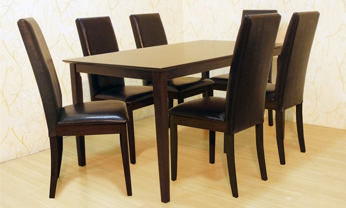 neuBID: Seven-Piece Wooden Dining Set for R3 995 Including Delivery (47% Off)