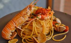 RISTORANTE PIZZERIA ANTICA TRATTORIA DA MARION: Menu di pesce con calici di vino in abbinamento al Ristorante Pizzeria Antica Trattoria Da Marion (sconto fino a 70%)
