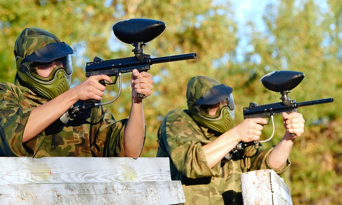 Wacky Warriors - Multiple Locations: Open-Play Paintball for Two, Four, or Six with Equipment, Paintballs, and T-Shirts at Wacky Warriors (50% Off)