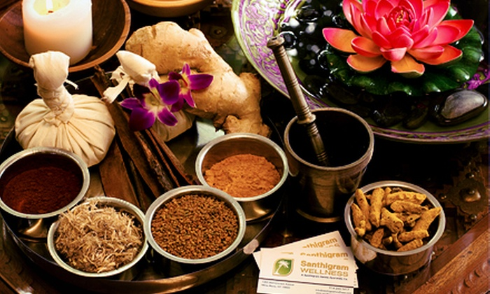 Santhigram Kerala Ayurvedic Center - Westchester County: $59 for an Ayurvedic Stress-Relief Session and Consultation at Santhigram Kerala Ayurvedic Center ($155 Value)