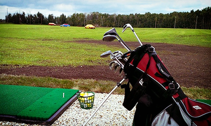 South Century Driving Range - Spruce Grove: Two Large Buckets of Range Balls or Four Small Buckets at South Century Driving Range (Half Off)