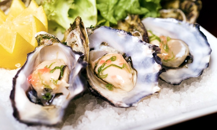 Hawgs Seafood Bar - Campbell: Seafood Dinner or Lunch for Two at Hawgs Seafood Bar (Up to 40% Off)