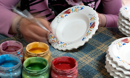 5 or 10 Pottery-Painting Sessions at Fired Up (Up to 77% Off)