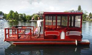 Müggelspree Floss Köpenick: 6 Std. Floßmiete für bis zu 8 Personen von Müggelspree Floß Köpenick (bis zu 44% sparen*)