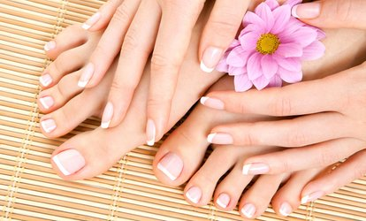 image for One or Three <strong>Manicures</strong> and Spa Pedicures at Nails by Michaela Bay (Up to 69% Off)