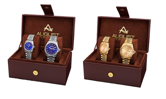 Groupon Goods Global GmbH: Coffret avec 2 montres August Steiner His and Hers