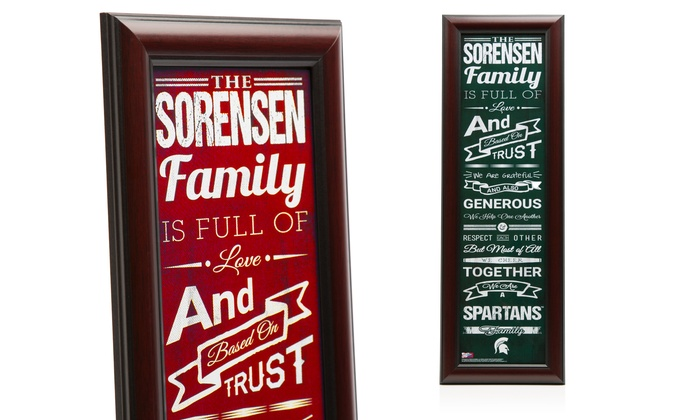 Prints That Rock: Personalized Family Cheer Print with a Standard or Premium Frame from Prints That Rock (Up to 44% Off)