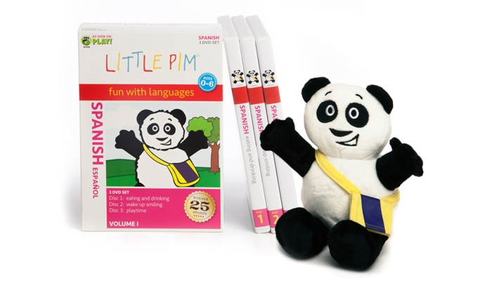 Little Pim Language Discovery Set with 3 DVDs, Poster, and Plush: Little Pim Language Discovery Set with 3 DVDs, Poster, and Plush. Multiple Languages Available.