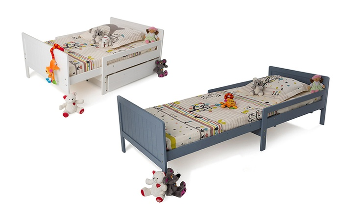 lit enfant volutif tiroir matelas en option groupon. Black Bedroom Furniture Sets. Home Design Ideas