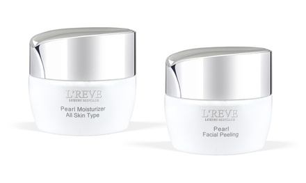 L'Reve Pearl Facial Peeling Gel (1.7 Fl. Oz.) and Moisturizer (1.7 Fl. Oz.) Bundle