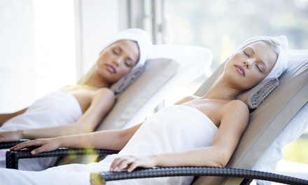 Spa Day with Treatment, Robe and Towels and Afternoon Tea for Up to Four at Britannia Airport Inn (Up to 52% Off)