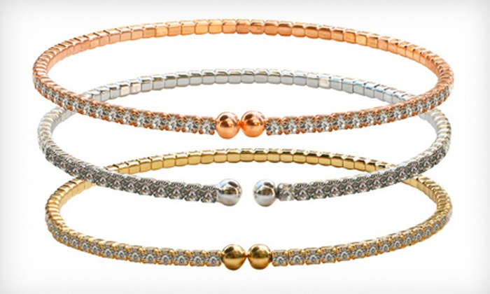 Czech Crystal Bracelets: $19 for a Set of Three 2mm Czech Crystal Bracelets ($54 Value). Five Sets Available.