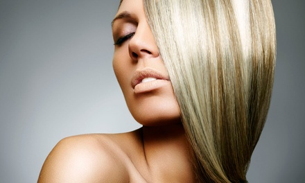 Cut and Style with Choice of Full Color or Partial or Balayage Highlights at Balayage Hair Studio (61% Off)