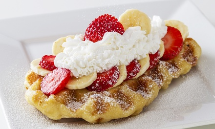 $11 for Two Groupons, Each Good for $9 Toward Waffles and Drinks at Waffle Bar ($18 Total Value)