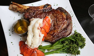 Seven the Steakhouse: Dinner for Two or Four at Seven The Steakhouse (42% Off)