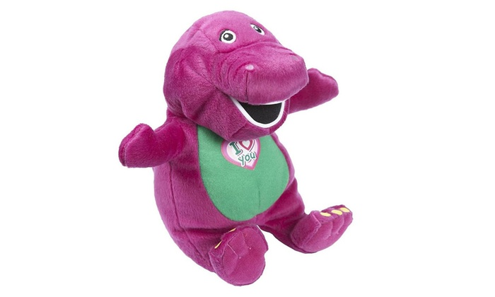 Singing Barney Purple Dinosaur Kids Toy Christmas Gift 43cm Soft