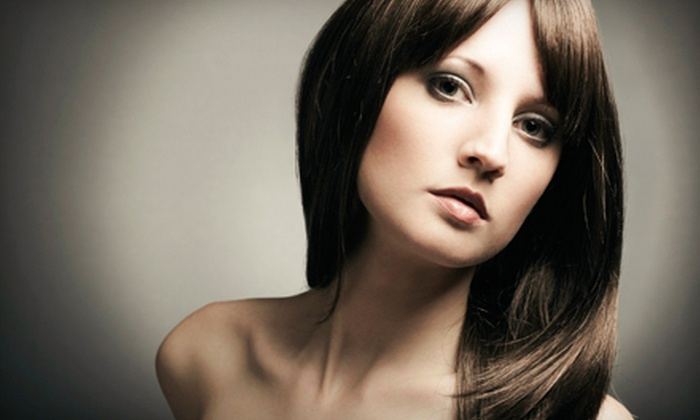 Expressions in Hair - Fairfield: Haircut and Keratin Treatment with Optional All-Over Color or Full Highlights at Expressions in Hair (Up to 67% Off)