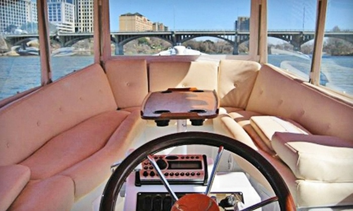 Capital Cruises - Bouldin: Electric-Boat Rental with Dinner for Two, or Private Captained Charter for Up to 15 from Capital Cruises (Up to 51% Off)