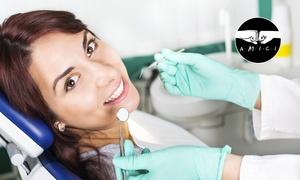Poliambulatorio S Filomena: Visita odontoiatrica con pulizia denti o in più otturazione e sbiancamento LED