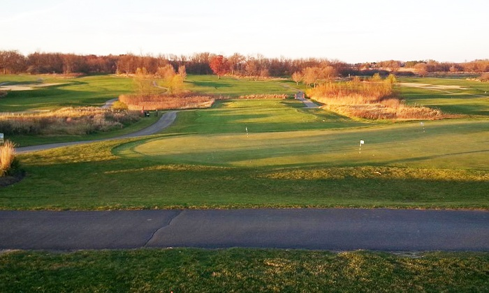Timber Pointe Golf Club - Poplar Grove: 18 Holes of Golf for Two or Four with Cart Rentals, Range Balls, and Food-and-Drink Vouchers (Up to 52% Off)