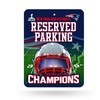 New England Patriots NFL Super Bowl XLIX Champions Metal Parking Sign