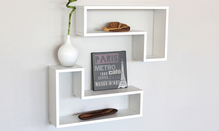 2 mensole da parete in legno groupon goods - Mensole da parete design ...