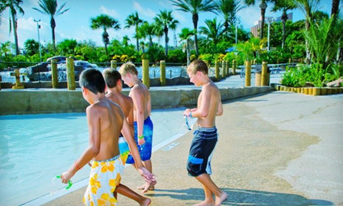 Palm Beach Water Park at Moody Gardens, Inc - Galveston: Palm Beach Water Park for Two, Four, or Six at Moody Gardens (Up to 55% Off)